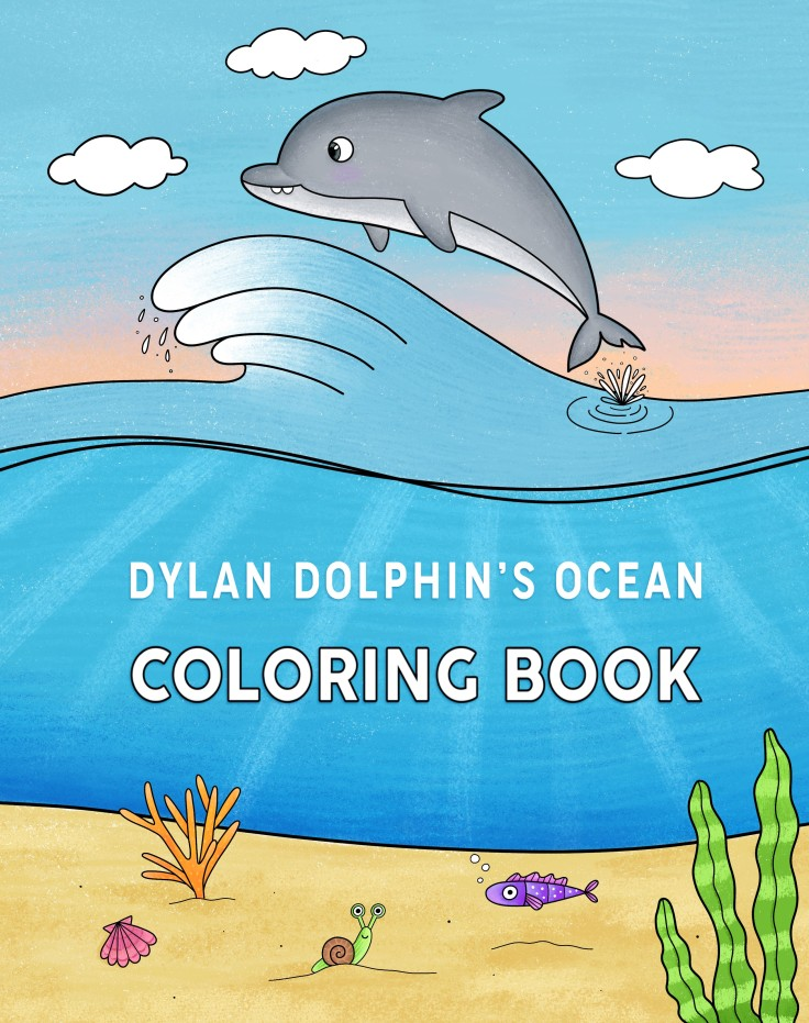 .DDolphin Coloring Book Front Cover